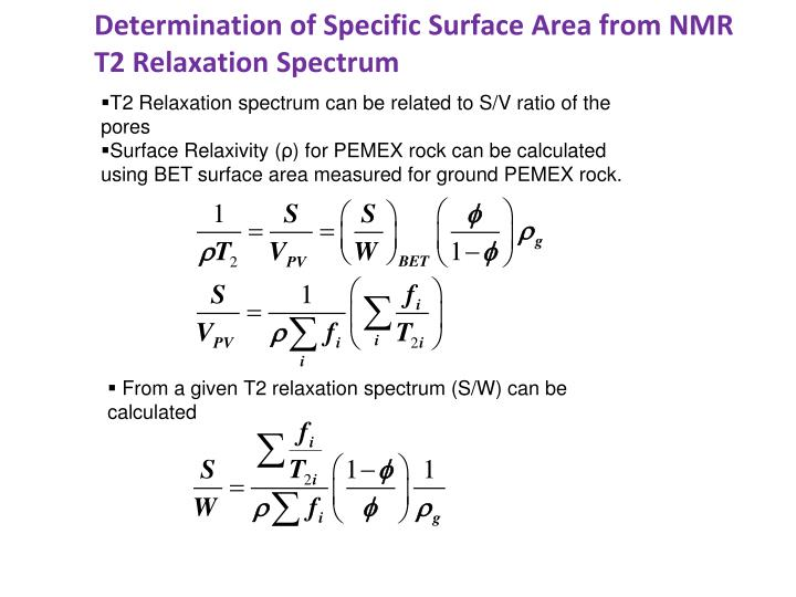 Determination of Specific Surface Area from NMR