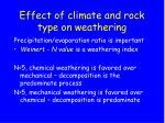 effect of climate and rock type on weathering