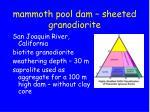 mammoth pool dam sheeted granodiorite1