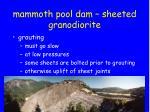 mammoth pool dam sheeted granodiorite5
