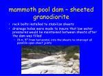 mammoth pool dam sheeted granodiorite7