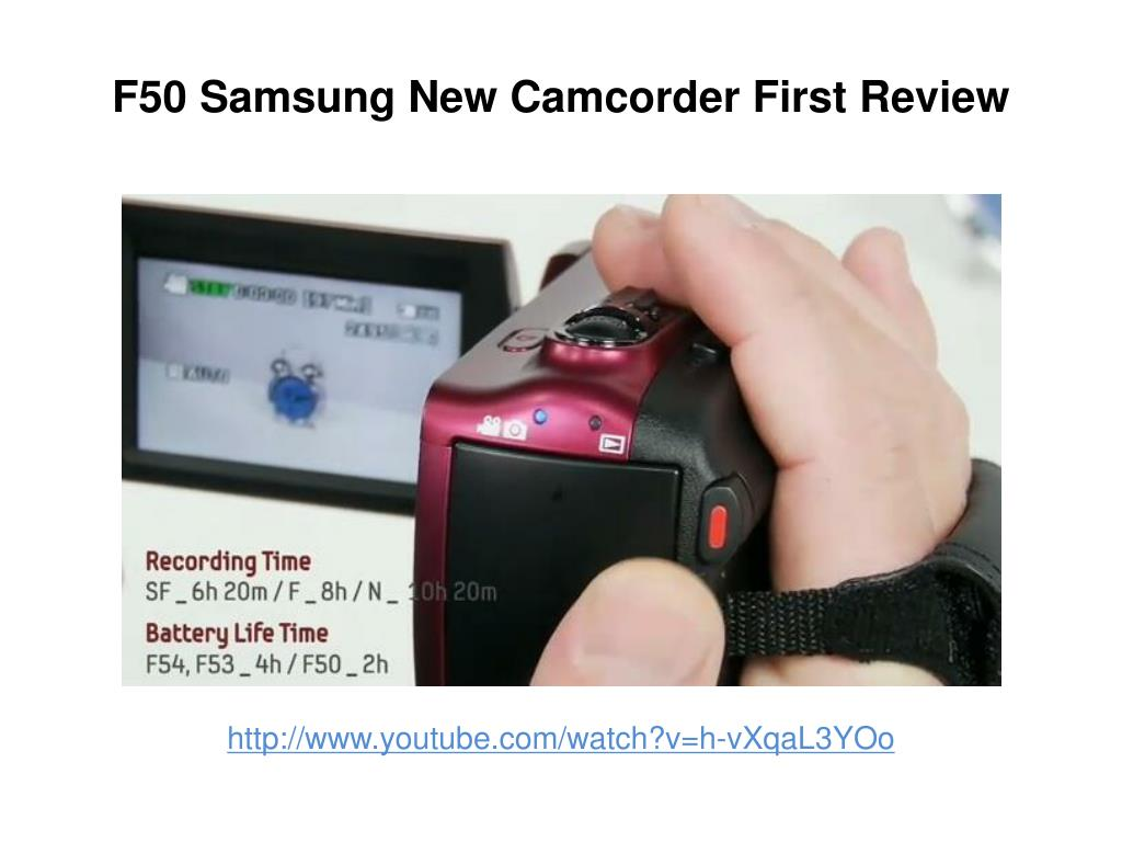 f50 samsung new camcorder first review l.