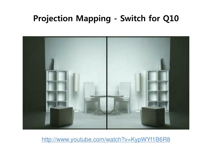 Projection mapping switch for q10