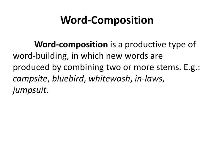 word composition n.