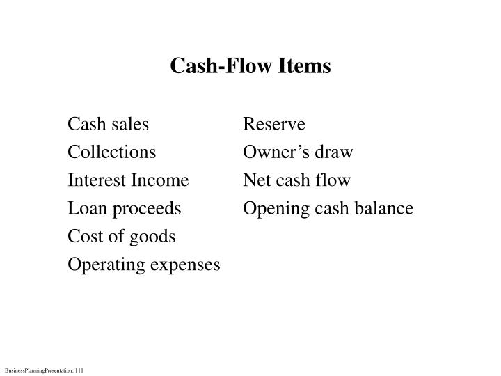 Cash-Flow Items