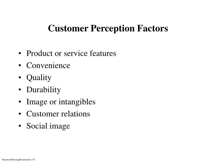 Customer Perception Factors