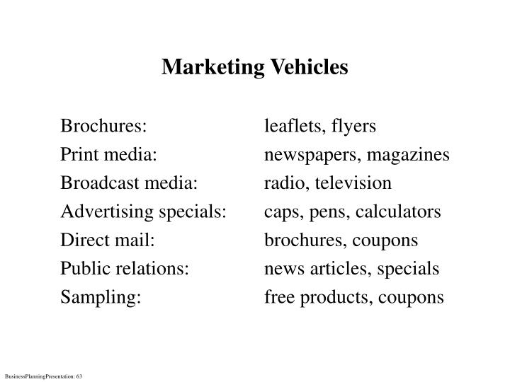 Marketing Vehicles