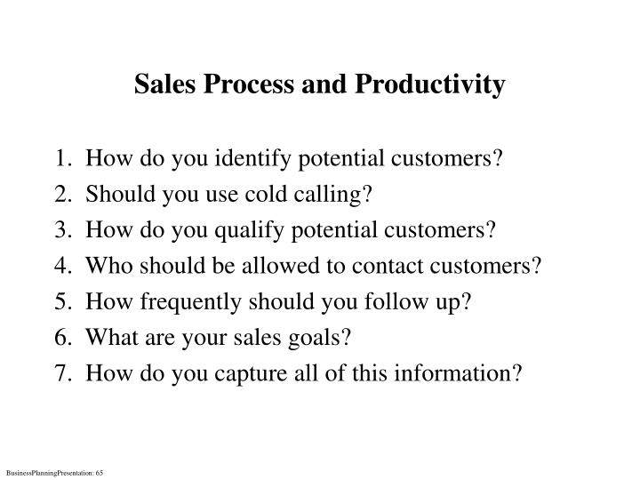 Sales Process and Productivity