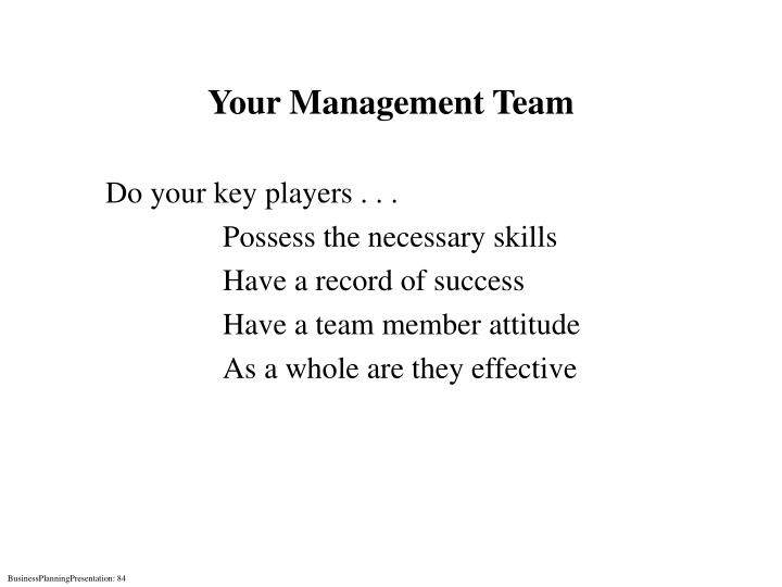 Your Management Team