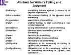 attribute for writer s felling and judgment1