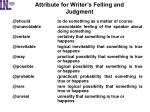 attribute for writer s felling and judgment2