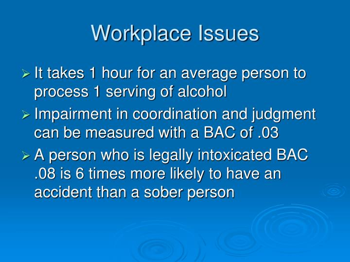 Workplace Issues