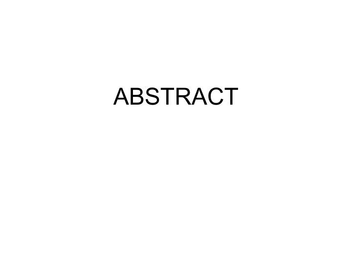 abstract n.