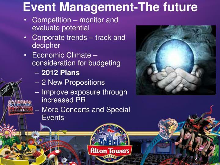 Event Management-The future