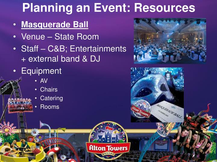 Planning an Event: Resources
