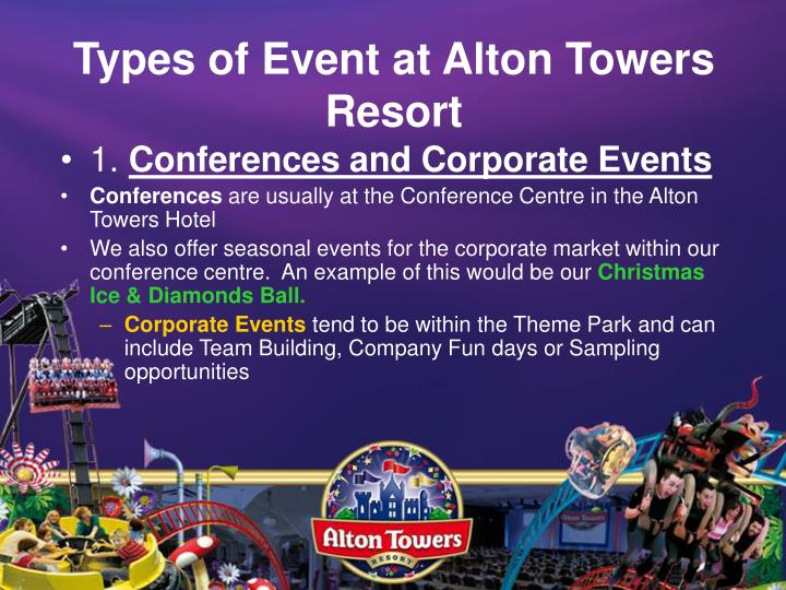 Types of event at alton towers resort