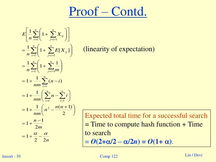 Proof – Contd.
