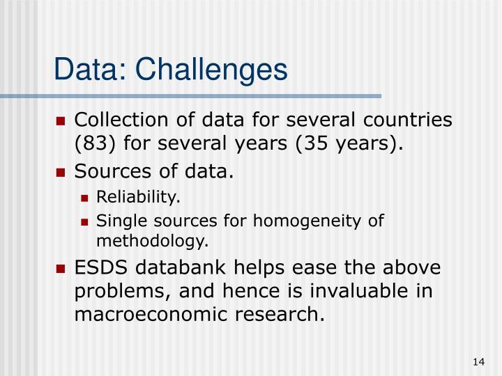 Data: Challenges