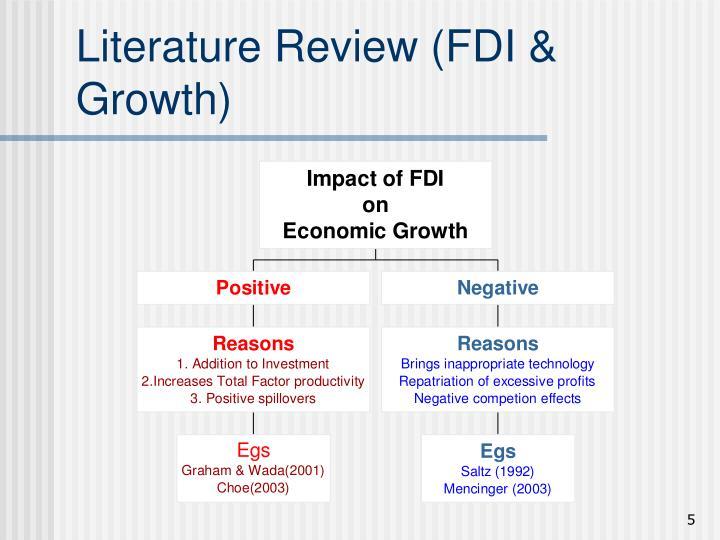 Literature Review (FDI & Growth)