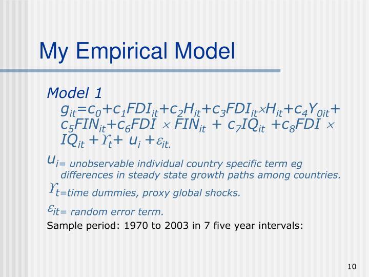 My Empirical Model