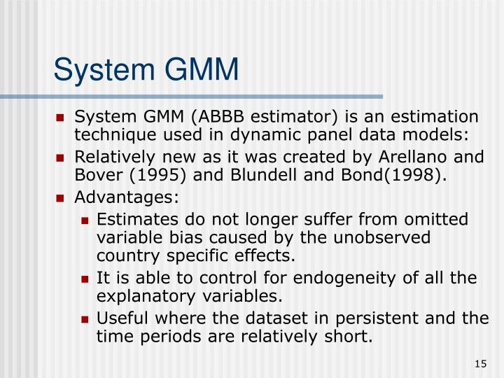 System GMM