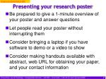 presenting your research poster