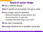 research poster design