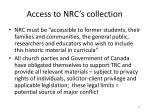 access to nrc s collection