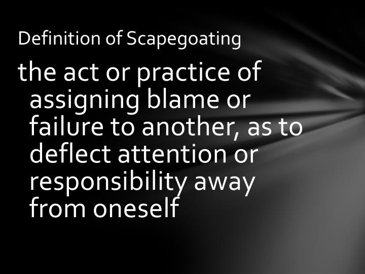 essay on scapegoating View scapegoating research papers on academiaedu for free.