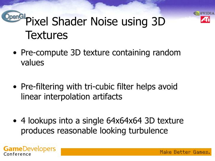 Pixel Shader Noise using 3D Textures