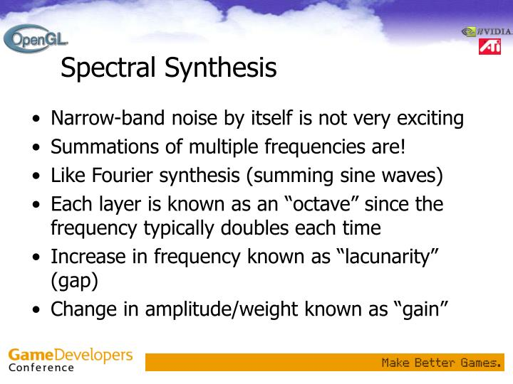 Spectral Synthesis