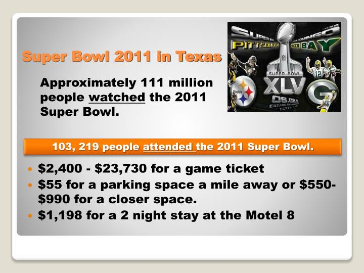 $2,400 - $23,730 for a game ticket