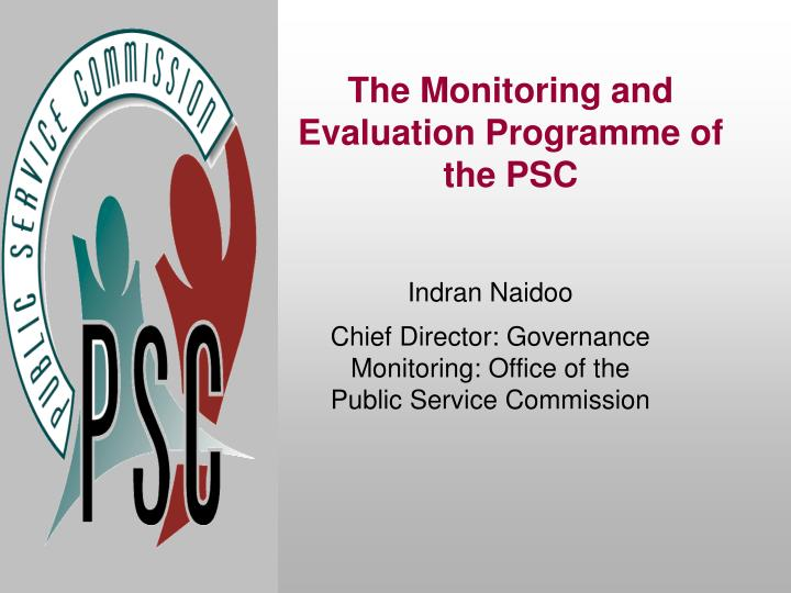 monitoring and evaluation in south african government essay Basic concepts in monitoring and evaluation february 2008 published in the republic of south africa by: the public service commission (psc) commission house cnr hamilton & ziervogel streets arcadia, 0083 private bag x121 pretoria, 0001  similarly, the south african government recognised that, to ensure that tangible results are achieved, the way that it monitors, evaluates and reports on its policies, projects and.