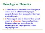 phonology vs phonetics