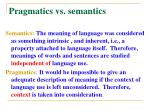 pragmatics vs semantics