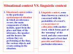 situational context vs linguistic context