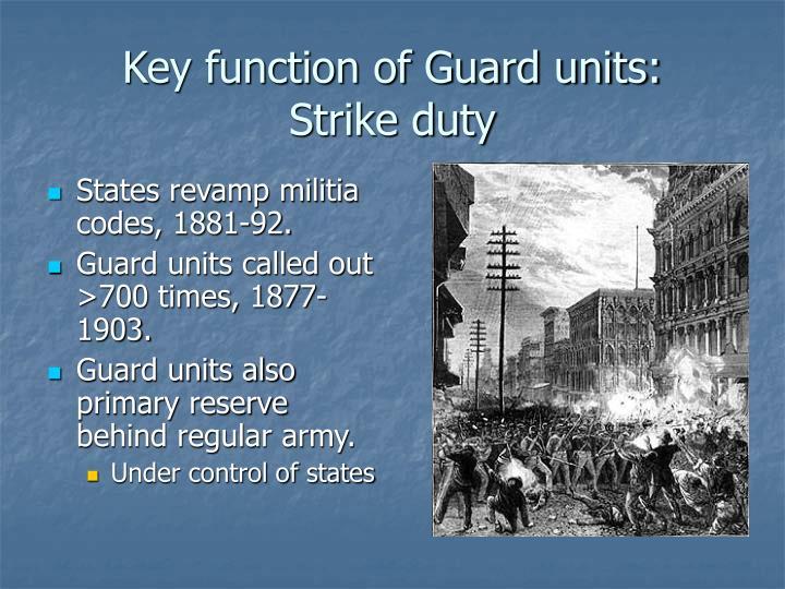 Key function of Guard units: