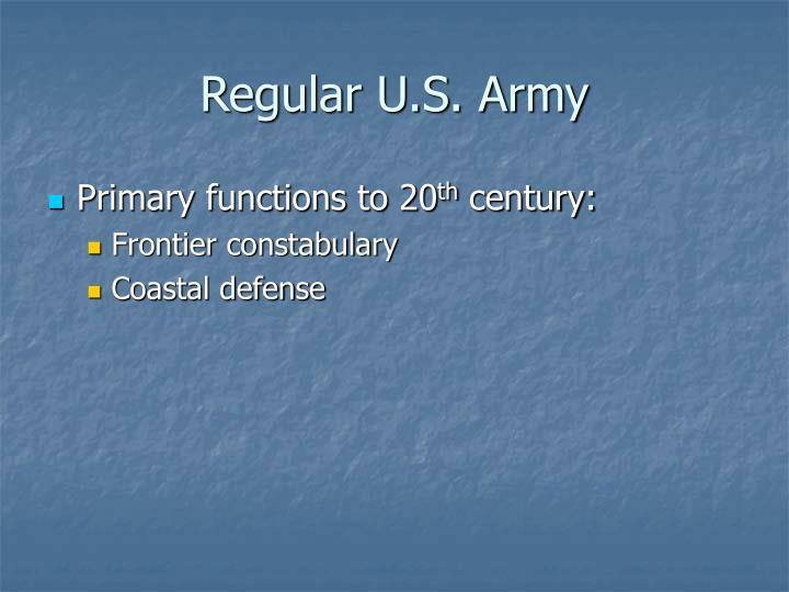 Regular u s army