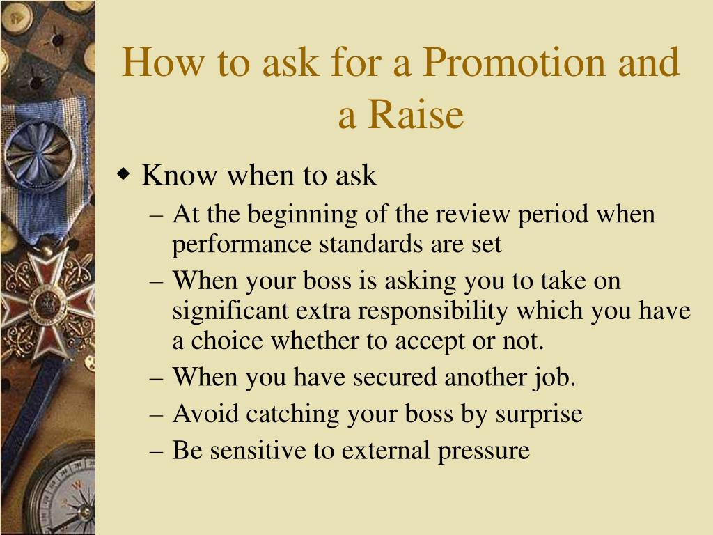 how to ask for a promotion and a raise n