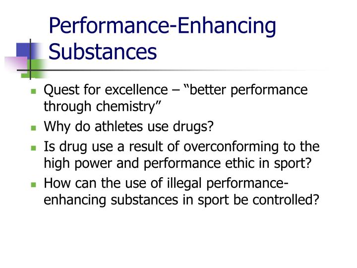 a overview of athletes use of performance enhancing drugs