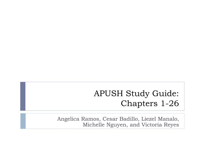 apush study guide chapters 1 26 n.