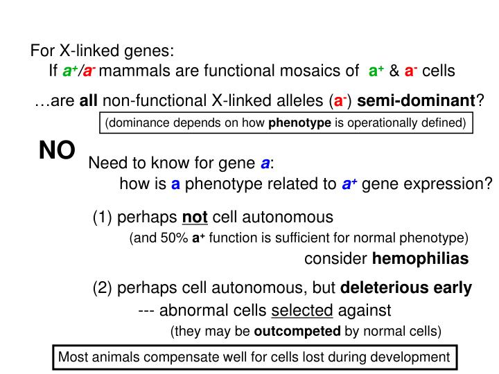 Need to know for gene