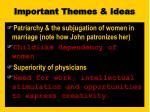 important themes ideas