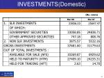 investments domestic