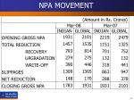 npa movement