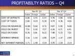 profitabilty ratios q4