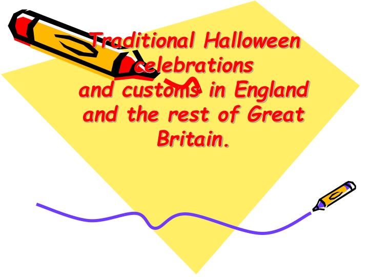Traditional Halloween celebrations
