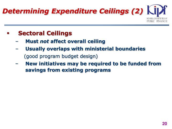 Determining Expenditure Ceilings (2)
