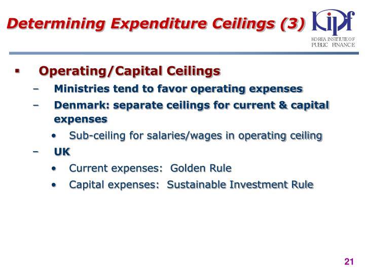 Determining Expenditure Ceilings (3)