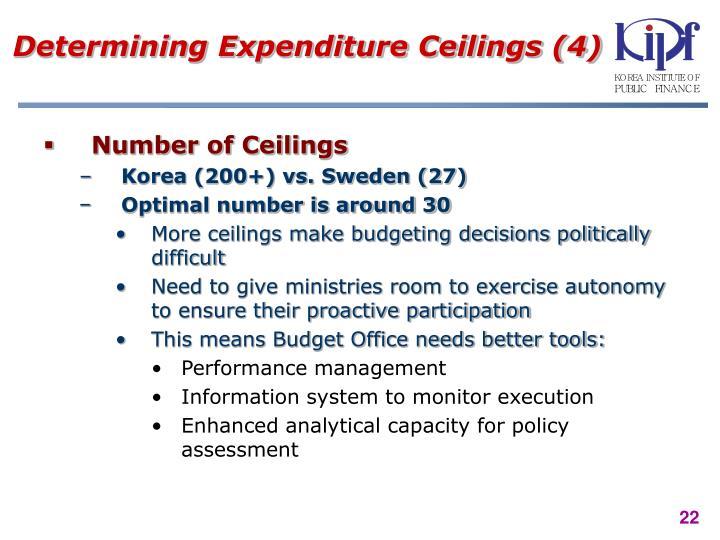 Determining Expenditure Ceilings (4)